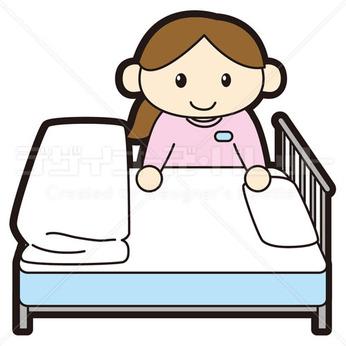 <急募!!>医療機関でのベッドメイクのお仕事です。<40代後半~50代の主婦が多数活躍中!>